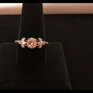 925 Silver Round Cut White Sapphire Ring